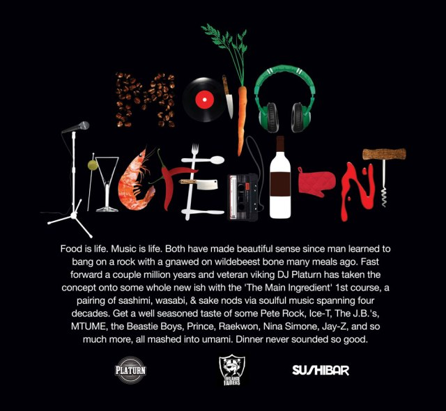 DJ Platurn_The Main Ingredient V.1_Back Cover