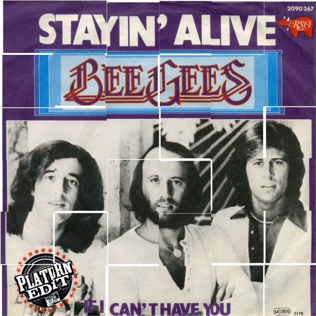 the bee gees_stayin alive_platurn strip tease edit